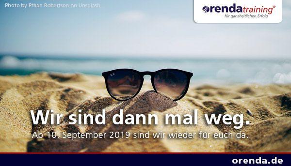 Wir sind vom 20. August bis zum 9. September  2019 in Betriebsurlaub. Ab 10. September sind wir wieder wie gewohnt für euch da.