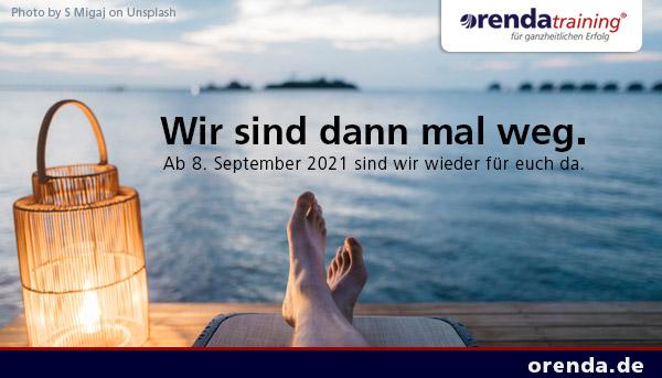 Wir sind vom 18. August bis zum 7. September 2021 in Betriebsurlaub. Ab 8. September sind wir wieder wie gewohnt für euch da.