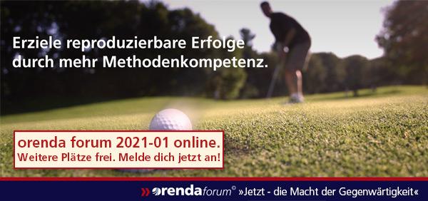 orenda forum 2021-01 findet online statt, dadurch weitere freie Plätze möglich.