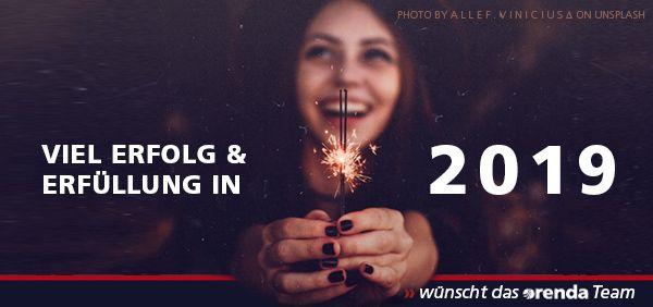 Wir wünschen fürs neue Jahr 2019 viel Freude, Erfolg, Gesundheit und Erüllung.
