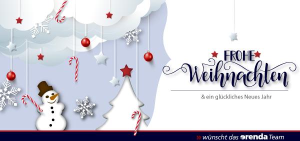Frohe Weihnachten wünscht das gesamte orenda Team